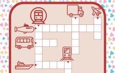 Transportation Worksheets: Crossword Puzzles   Printable Transportation Puzzles