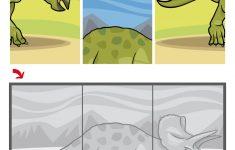 Triceratops Dinosaur Jigsaw Puzzle | Free Printable Puzzle Games   Printable Dinosaur Puzzle