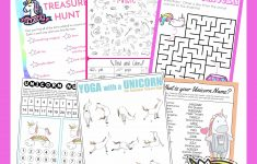 Unicorn Birthday Games Activities Puzzles   Growing Play   Printable Puzzle Packet