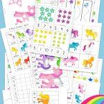 Unicorn Preschool Activity Pack   Fun With Mama   Printable Unicorn Puzzle