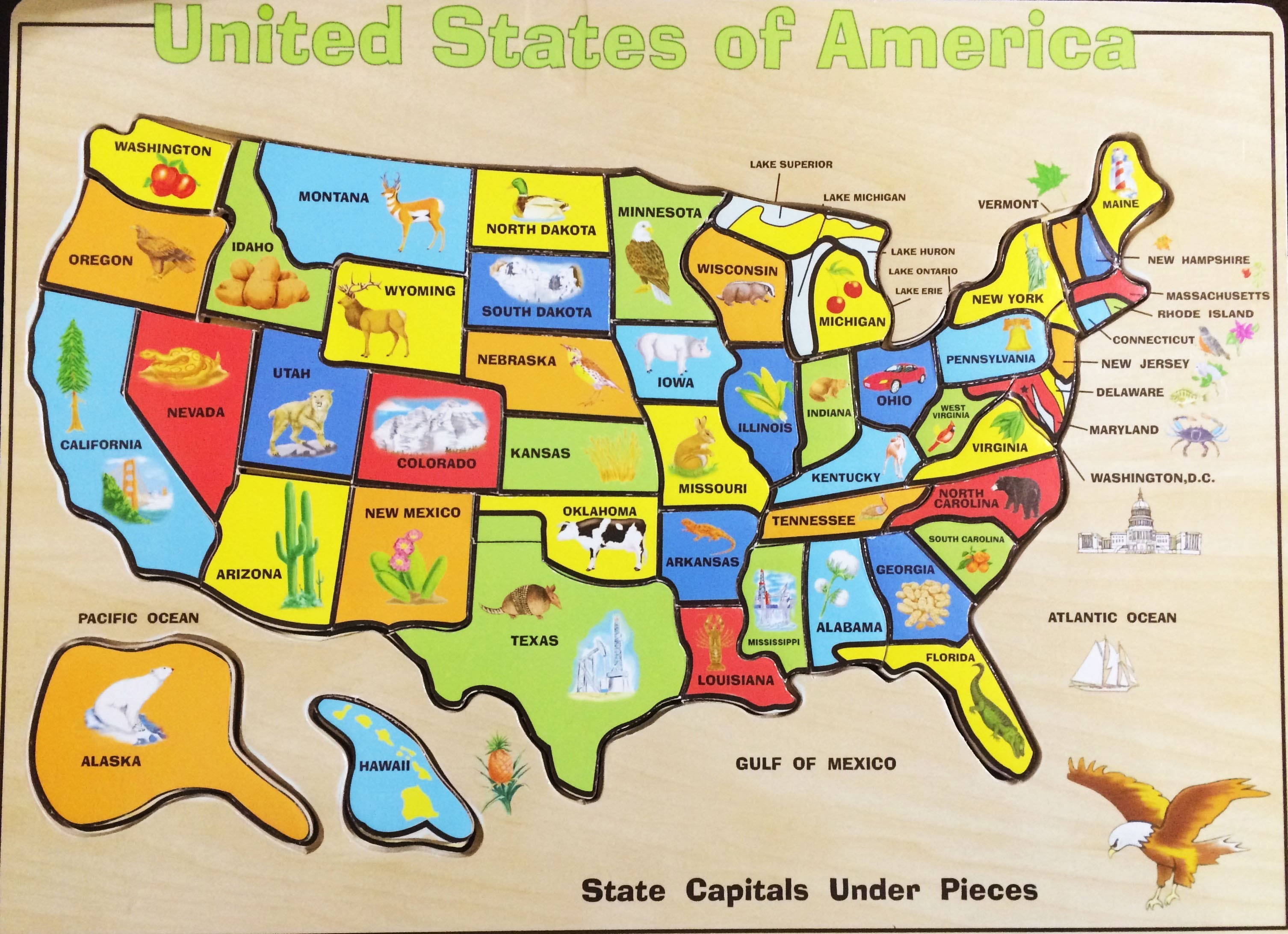 United States Map Printable Puzzle New Us Geography Map States Best - Printable State Puzzle