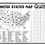 United States Map Quiz & Worksheet: Usa Map Test With Practice   50 States Crossword Puzzle Printable