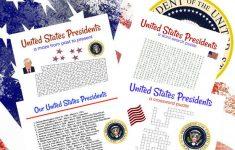 United States Presidents Printable Game Set Of 4 Crossword | Etsy   Presidents Crossword Puzzle Printable