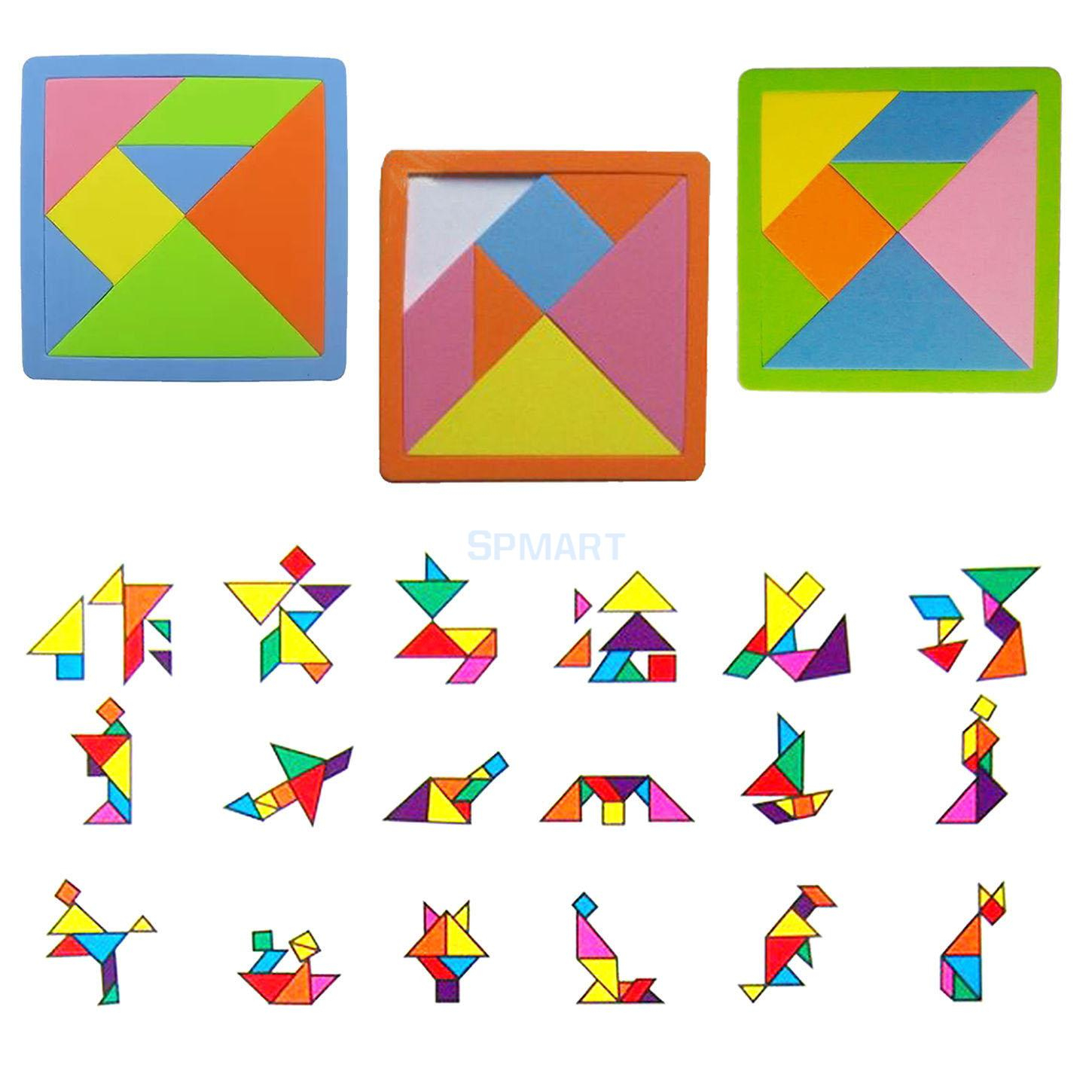 Us $1.61 21% Off|7 Pieces Eva Foam Tangram Brain Educational Teaser Puzzle  Game Kid Toys-In Puzzles From Toys & Hobbies On Aliexpress | Alibaba - 7 Piece Tangram Puzzle Printable