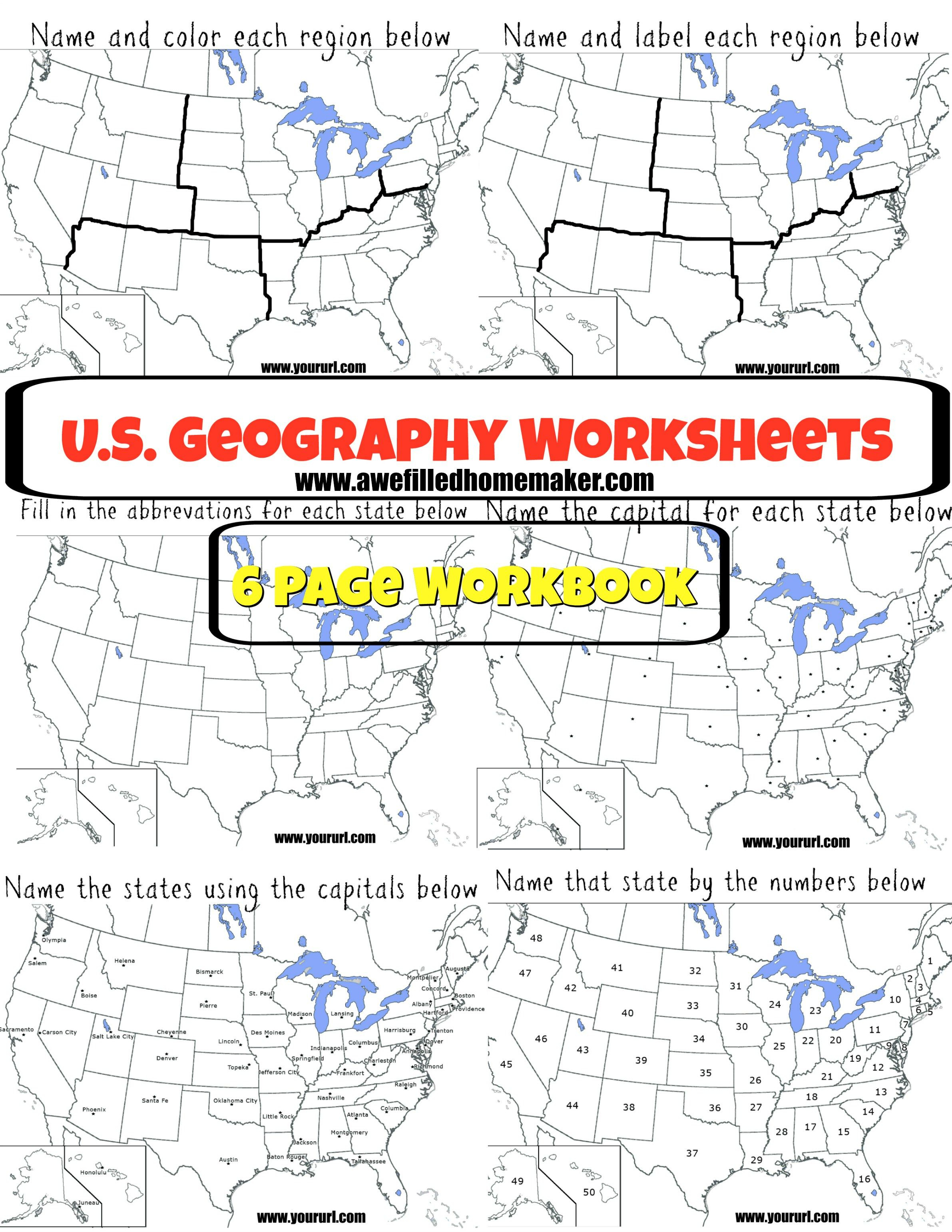 Us Geography Printable Workbook | Homeschool-Geography | Us - Printable Geography Puzzles