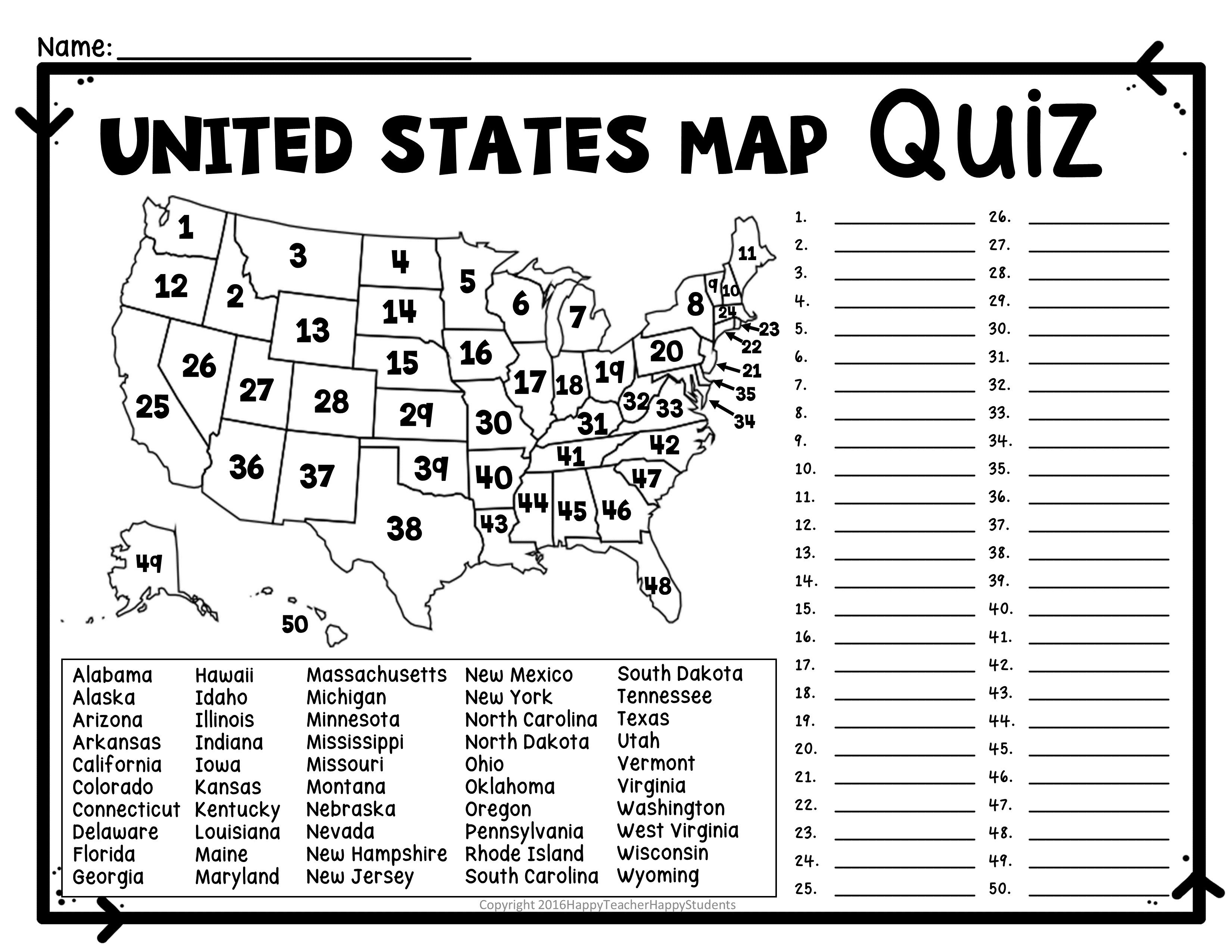 Us Rivers And Lakes Map Quiz New United States Map Puzzles Printable - Printable Puzzle Quiz