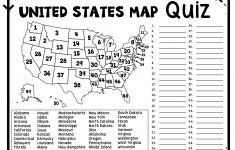 Us Rivers And Lakes Map Quiz New United States Map Puzzles Printable   Printable Quiz Puzzles