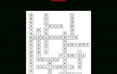 Us States Fun Facts Crossword Puzzles   Free Printable Travel   Printable United States Crossword Puzzle