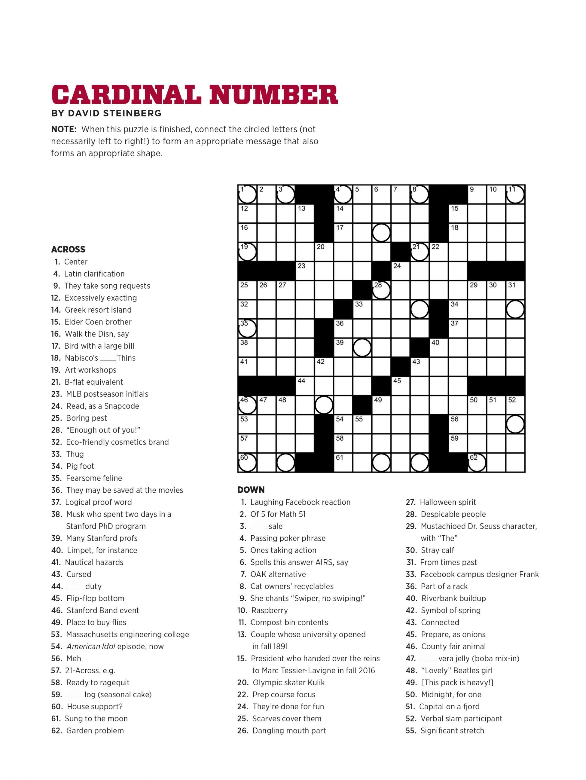 Usa Crossword Puzzles Printable – Jowo - Free Printable Crosswords - Disney Crossword Puzzles Printable