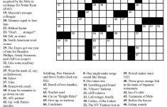 Usa Crossword Puzzles Printable – Jowo   Free Printable Crosswords   Usa Today Crossword Puzzle Printable