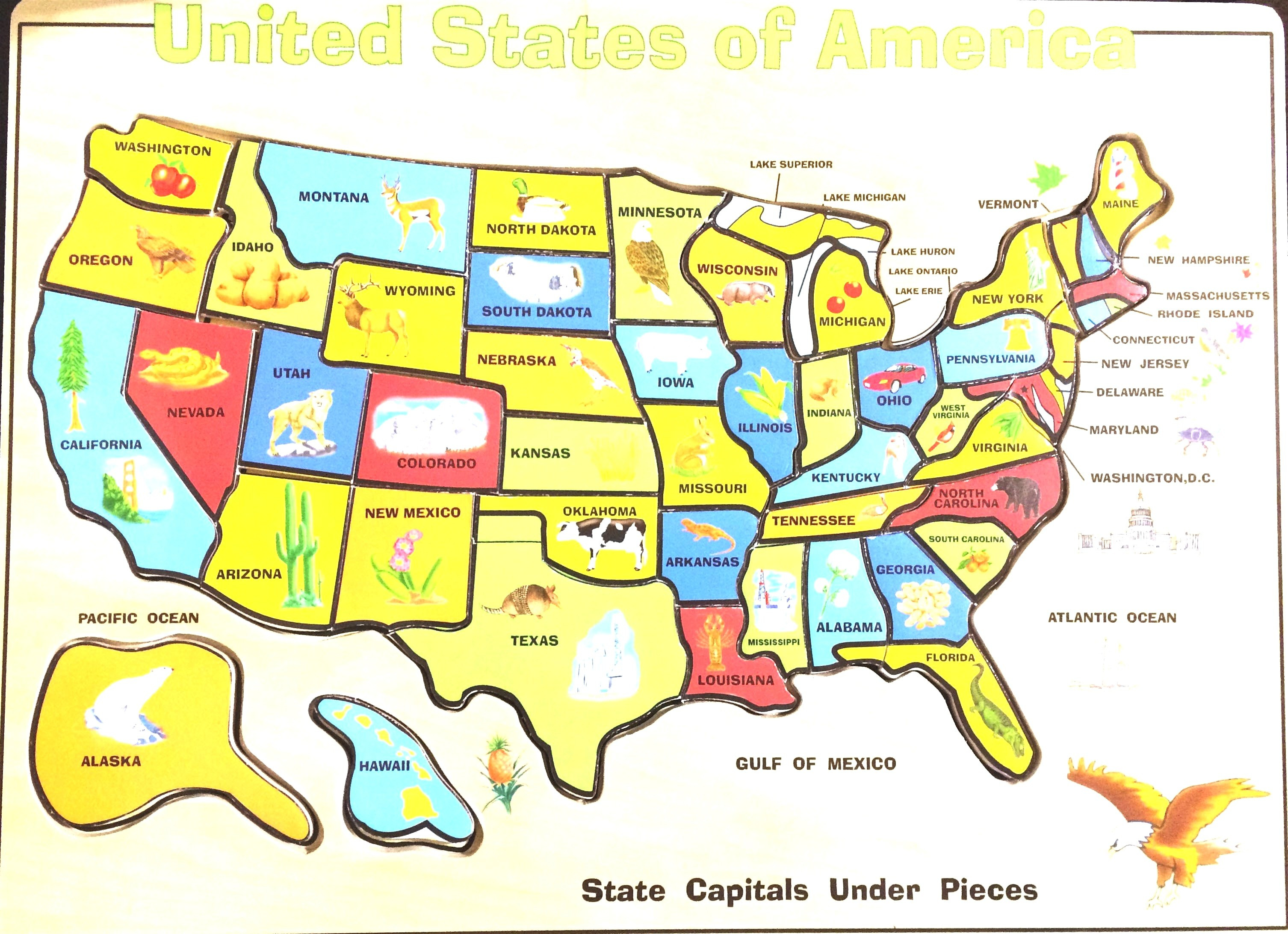 Usa Map Puzzle Rand Mcnally Store Printable United States For Nfl - Printable Usa Puzzle