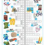 Vacation Crossword Puzzle Worksheet   Free Esl Printable Worksheets   Crossword Puzzles For Esl Students Printable