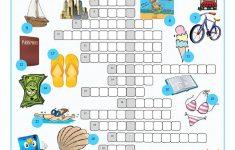 Vacation Crossword Puzzle Worksheet   Free Esl Printable Worksheets   Printable Crossword Puzzles Summer Holidays