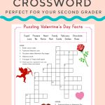 Valentine Crossword | Elementary Activities And Resources   Free Printable Valentines Crossword