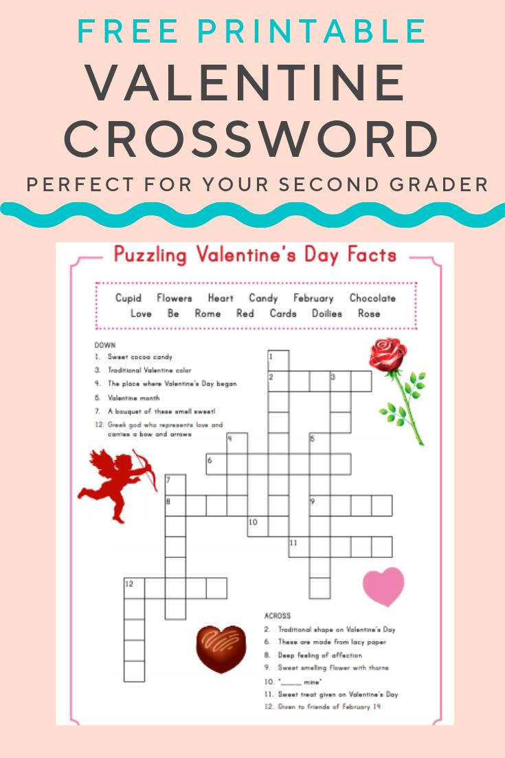 Valentine Crossword | Elementary Activities And Resources - Printable Valentine Crossword Puzzle