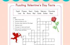 Valentine Crossword | Elementary Activities And Resources   Printable Valentine Puzzles Games