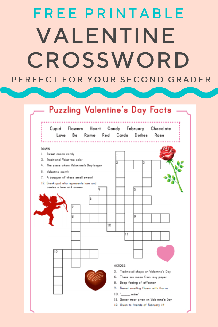 Valentine Crossword | Elementary Activities And Resources - Printable Valentine Puzzles Games