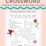 Valentine Crossword | Elementary Activities And Resources   Valentine Crossword Puzzles Printable