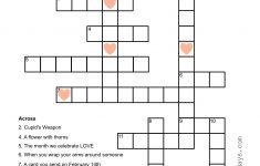 Valentine Crossword Puzzle   Sunshine And Rainy Days   Printable Valentine Crossword Puzzles
