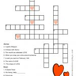 Valentine Crossword Puzzle | Valentine Printables | Crossword, Kids   Valentine Crossword Puzzles Printable