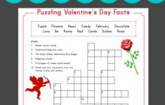 Valentine Crossword | Puzzles And Mazes | Valentines Day Words   Free Printable Valentine Puzzles For Adults