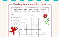 Valentine Crossword | Valentine's Day | Valentines Day Words   Printable Crossword #3