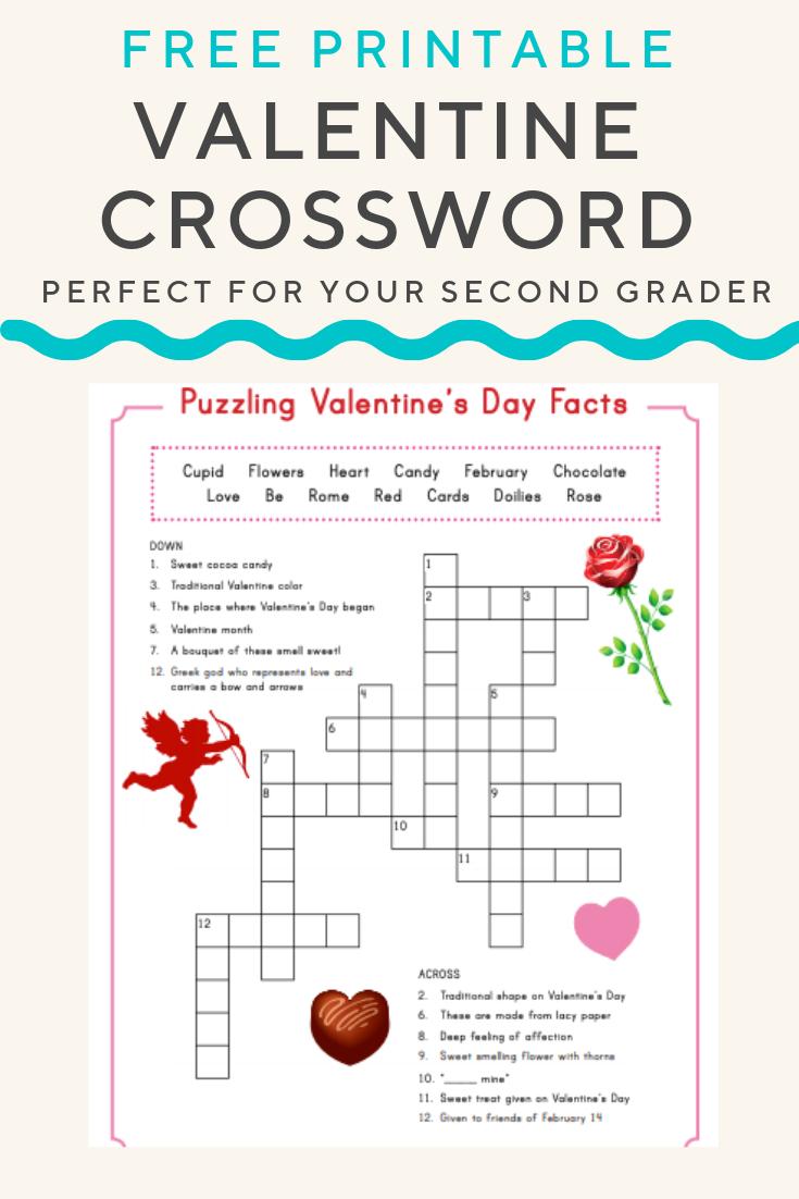 Valentine Crossword | Valentine's Day | Valentines Day Words - Printable Crossword Puzzles #3