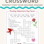 Valentine Crossword | Valentine's Day | Valentines Day Words   Valentine's Day Printable Puzzle