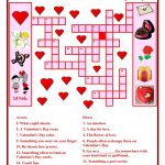 Valentine Day Crossword Worksheet   Free Esl Printable Worksheets   Free Printable Valentines Crossword