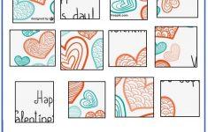 Valentine Day Puzzles   Printable Cut & Paste Puzzles | Valentine   Reading Printable Puzzle