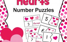 Valentine Hearts Number Puzzles Free Printable | Superheroes And   Printable Heart Puzzles