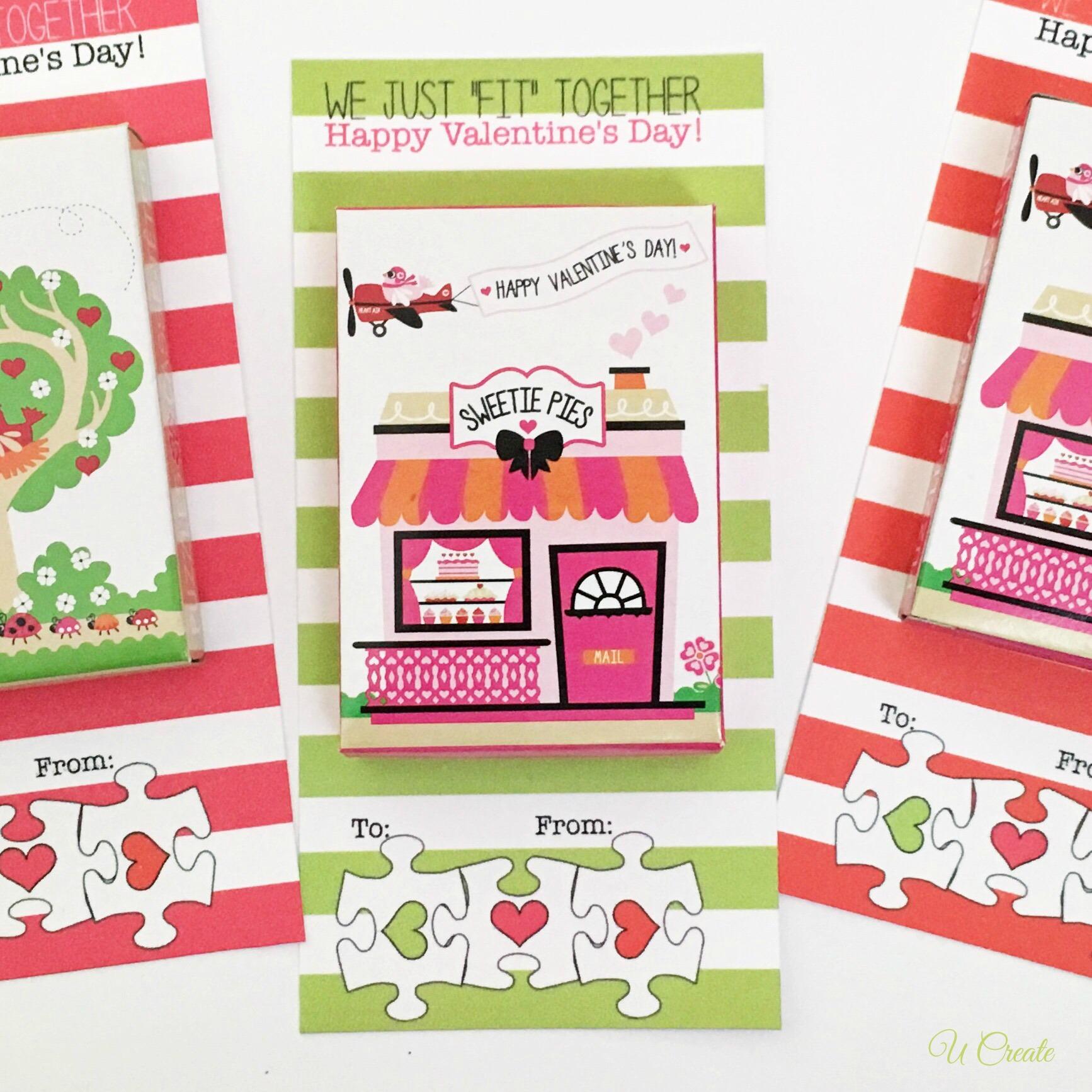 Valentine Puzzle Printables - U Create - Printable Valentine Puzzle