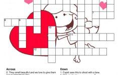 Valentines Crossword Puzzle   Printable Coloring Sheets   Valentine's Day Printable Puzzle