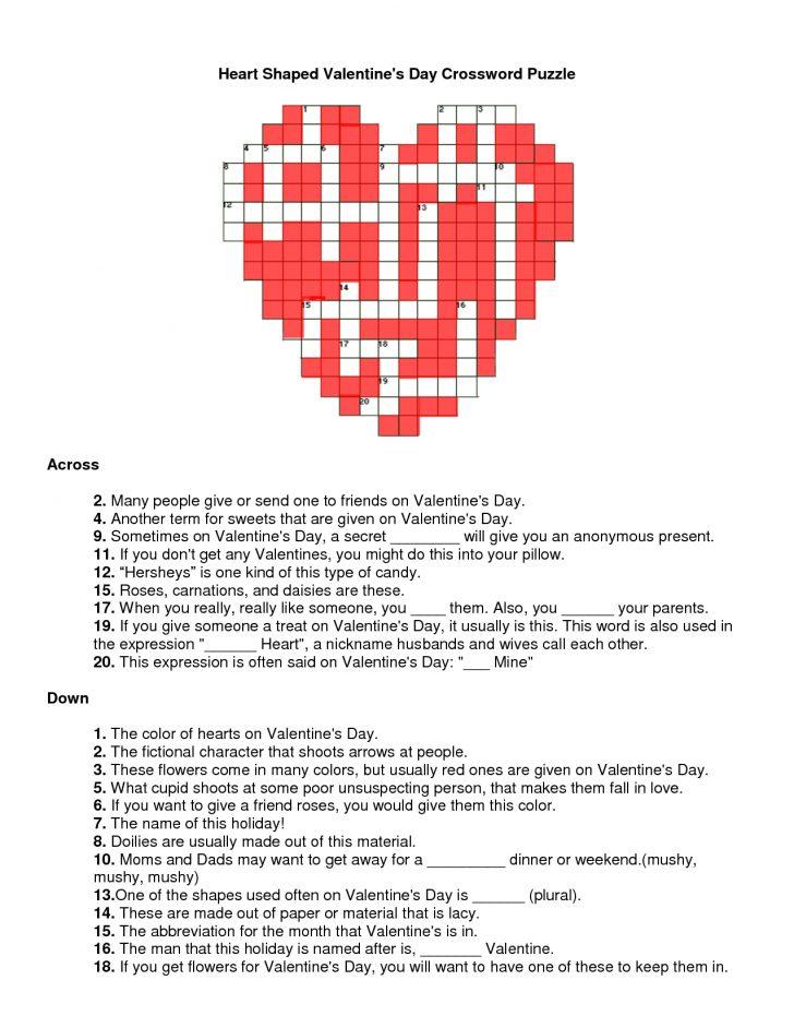 Free Printable Valentine Crossword Puzzles