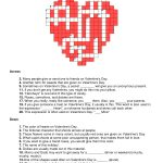 Valentines Day Crossword Puzzle | Will You Be My Valentine   Valentine Crossword Puzzles Printable