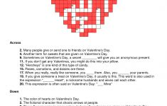 Valentines Day Crossword Puzzle   Will You Be My Valentine   Valentine Crossword Puzzles Printable