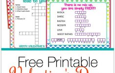 Valentine's Day Puzzle Cards {A Free Printable} | Valentine's Day   Printable Valentine Puzzle