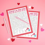 Valentine's Day Word Search Printable   Happiness Is Homemade   Printable Valentine Puzzles For Adults