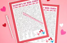 Valentine's Day Word Search Printable   Happiness Is Homemade   Printable Valentine Puzzles Games