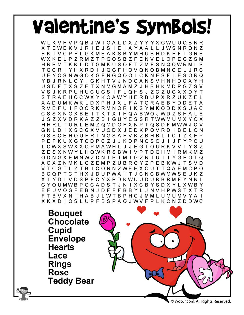 Valentine's Day Word Worksheets | Woo! Jr. Kids Activities - Printable Valentine Puzzles For Adults