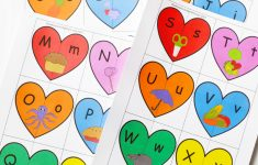 Valentine's Heart Letters And Phonics Puzzles Free Printable     Printable Valentine Heart Puzzle