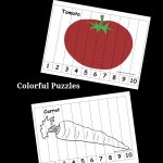 Vegetable Number Puzzles For Kids   Pre K Pages   Printable Number Puzzles For Preschoolers