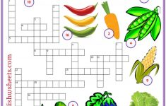 Vegetables Esl Printable Crossword Puzzle Worksheets For Kids   Printable Crossword Esl