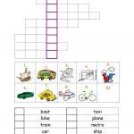 Vehicles Worksheet Worksheet   Free Esl Printable Worksheets Made   Printable Crossword Metro