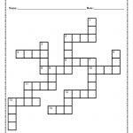 Verb Tense Crossword Puzzle Worksheet   Printable Crossword Puzzles For 6Th Graders
