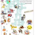 Verbs Of Action//crossword Puzzle Worksheet   Free Esl Printable   Crossword Puzzle Verbs Printable