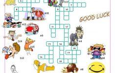 Verbs Of Action//crossword Puzzle Worksheet   Free Esl Printable   Verbs Crossword Puzzle Printable