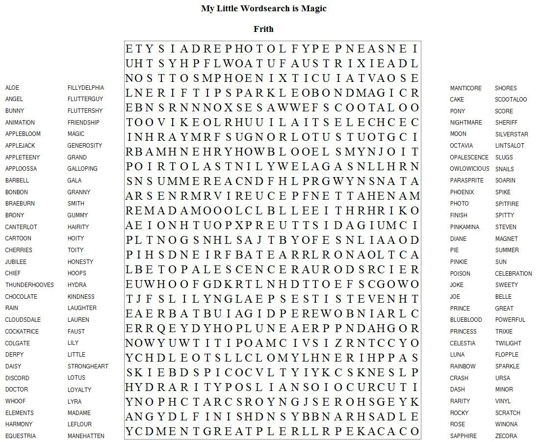 Very Hard Word Searches Printable | Frith Has Brought Us Another - Word Puzzle Printable Hard