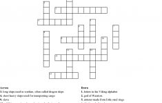 Vikings Letters Crossword – Printable Viking Crosswords