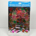Vintage Hallmark Stickers 2 Sheets Razzle Dazzle Foil   Summer Fun   Printable Razzle Puzzles